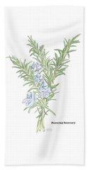 Flowering Rosemary Beach Towel