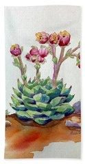 Flowering Succulent Beach Towel