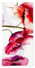 Flowers 02 Beach Towel