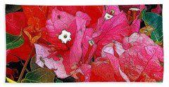 Flowers 14 In Abstract Beach Towel