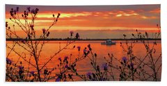 Flowers Along The Shore At Tibbetts Point  Beach Towel
