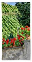 Flowers And Vines Beach Towel by Alan Toepfer