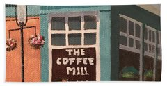 Flowers At Coffee Mill Mini Beach Towel