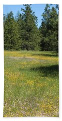 Flowers At Fish Hatchery Beach Towel
