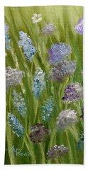 Flowers Field Beach Towel