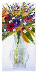 Flowers For An Occasion Beach Towel by Dick Bourgault