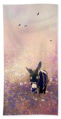 Flowers For Breakfast Beach Towel by Diane Schuster