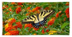 Flowers For Butterflies Beach Towel by Sue Melvin