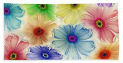 Beach Sheet featuring the digital art Flowers For Eternity by Klara Acel