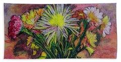 Flowers For The Artist 2 Beach Sheet