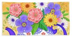 Flowers From The Garden Beach Sheet