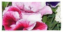 Beach Sheet featuring the photograph Flowers From The Heart by Jolanta Anna Karolska