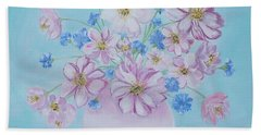 Flowers In A Vase. Delicate Home Collection Beach Sheet