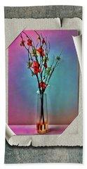 Flowers In A Vase Beach Towel