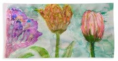 Tulips A'bloom Beach Towel