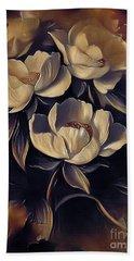 Flowers In Fall Beach Sheet