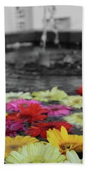 Flowers In Fountain Beach Towel