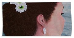 Flowers In Her Hair Beach Towel