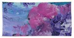 Flowers In The Clouds Beach Towel