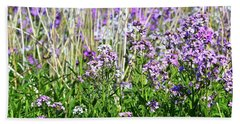 Flowers In The Field  Beach Towel by Lyle Crump