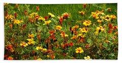Flowers In The Fields Beach Towel by Joseph Frank Baraba