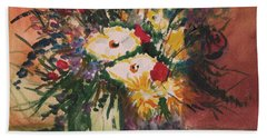 Flowers In Vases Beach Towel