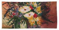 Flowers In Vases Beach Sheet