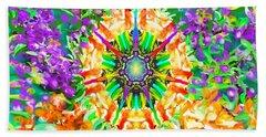 Flowers Mandala Beach Sheet