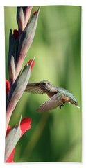 Flowers Nectar Beach Towel