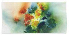 Flowers Of Spring Abstract Beach Sheet by Frank Bright