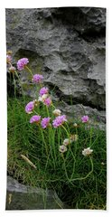 Flowers Of The Burren Beach Towel