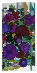 Flowers On Trellis Beach Sheet by Alika Kumar
