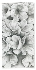 Clivia Flowers Pencil Beach Sheet