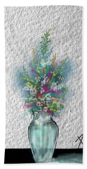 Beach Towel featuring the digital art Flowers Study Two by Darren Cannell