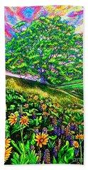 Flowers.tree Beach Towel