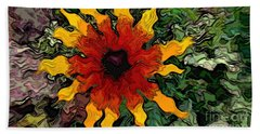 Flowerworks Beach Towel