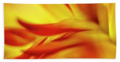 Flowing Floral Fire Beach Towel