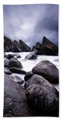 Beach Towel featuring the photograph Flowing by Jorge Maia