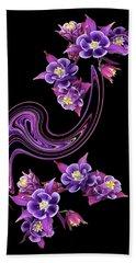 Flowing Purple Velvet 2 Beach Towel