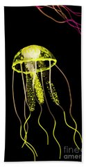 Flows Of Yellow Marine Life Beach Towel
