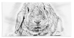 Fluffy Bunny Beach Towel