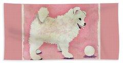 Fluffy Pup Beach Sheet by Phyllis Kaltenbach