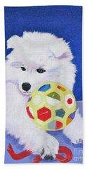 Fluffy's Portrait Beach Sheet by Phyllis Kaltenbach