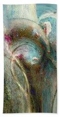 Beach Towel featuring the digital art Flugufrelsarinn by Linda Sannuti