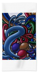 Fluid 1 - Abstract Art Painting - Chromatic Fluid Art Beach Towel