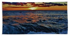 Fluid Sunset Beach Towel