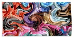 Beach Towel featuring the digital art Fluidity by Shelli Fitzpatrick