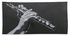 Flute Hands Beach Sheet