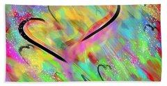 Fluttering Hearts Beach Sheet by Jason Nicholas