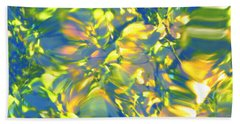 Fluttering Of Color Beach Sheet